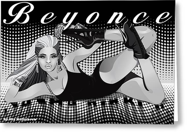 Sasha Greeting Cards - Sasha Fierce Greeting Card by Kia Kelliebrew