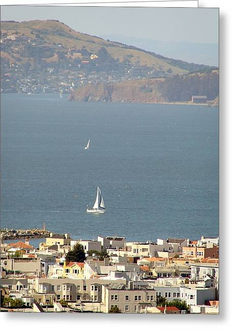 Sausalito Greeting Cards - Sausalito Greeting Card by Kathleen Fitzpatrick