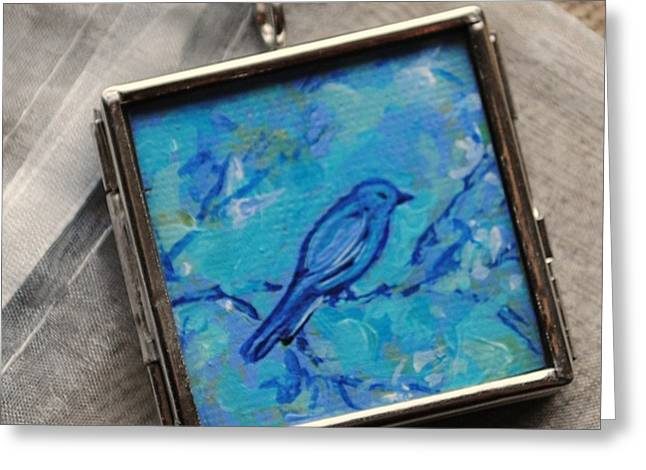 Acrylic Art Jewelry Greeting Cards - Serene Early Morn Greeting Card by Dana Marie