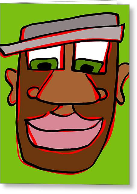 Character Portraits Greeting Cards - Shaun in Color Greeting Card by Jera Sky