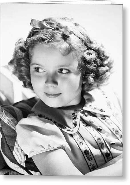 Shirley Temple (1928-  ) Greeting Card by Granger
