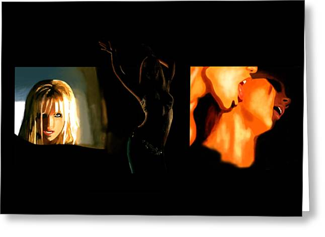 Britney Spears Greeting Cards - Slave for you Greeting Card by Vava Fuller-quinn
