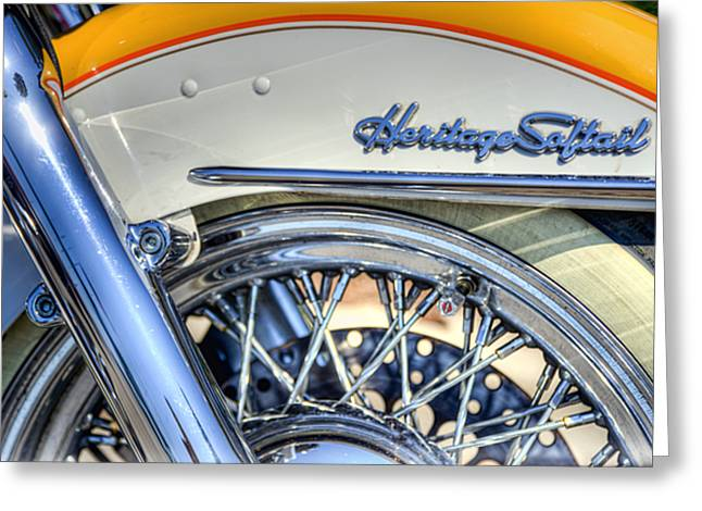 Hogs Greeting Cards - Softail Greeting Card by Scott Norris
