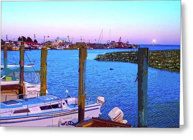 Southport Lights Greeting Card by Garland Johnson