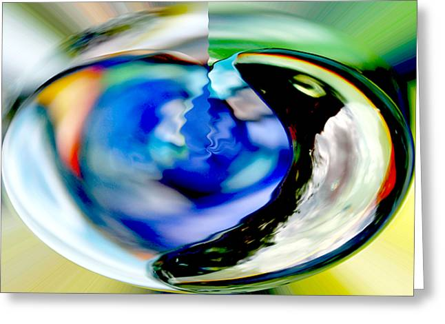 Complimentary Greeting Cards - Sphere Greeting Card by Dagmar Ceki