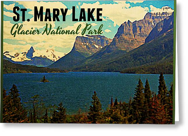 St. Mary Lake Glacier National Park Greeting Card by Flo Karp