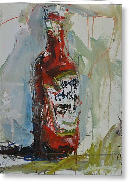 Affordable Kitchen Art Greeting Cards - Still Life Painting with Ketchup Bottle Greeting Card by Robert Joyner