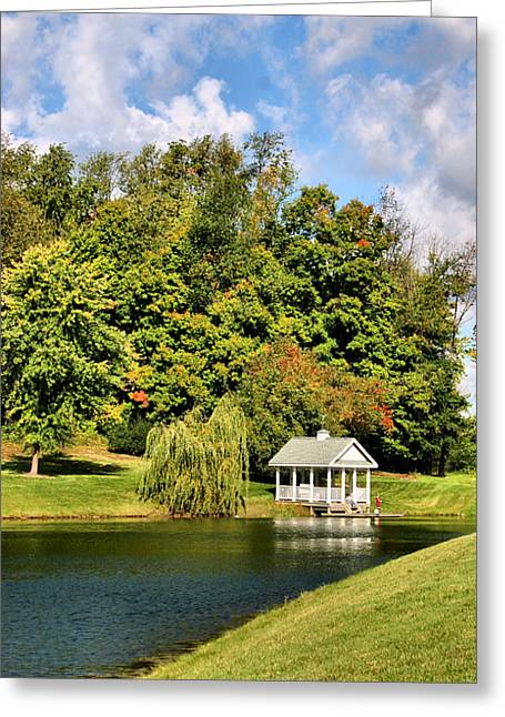 Willow Lake Greeting Cards - Summer Day Greeting Card by Kristin Elmquist