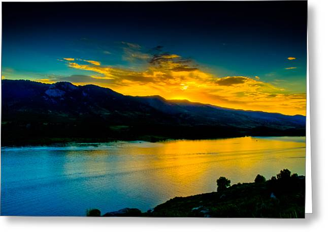 Fort Collins Photographs Greeting Cards - Sunset at Horsetooth Reservoir Greeting Card by Harry Strharsky
