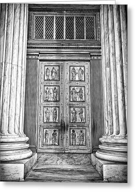 Supreme Court Building 12 Greeting Card by Val Black Russian Tourchin