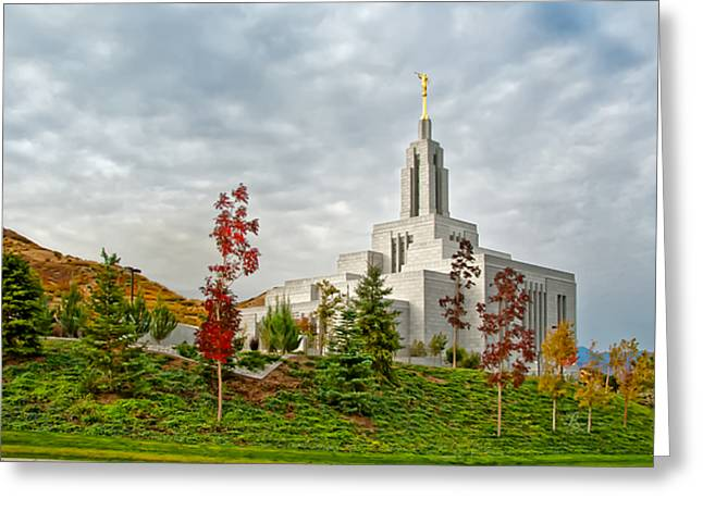 Slc Greeting Cards - Temple View  Draper Greeting Card by La Rae  Roberts