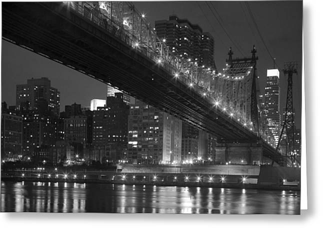 East River Drive Greeting Cards - The 59th Street Bridge Greeting Card by Andria Patino