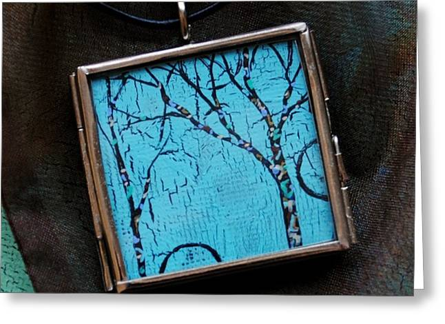 Acrylic Art Jewelry Greeting Cards - The Awakening Greeting Card by Dana Marie