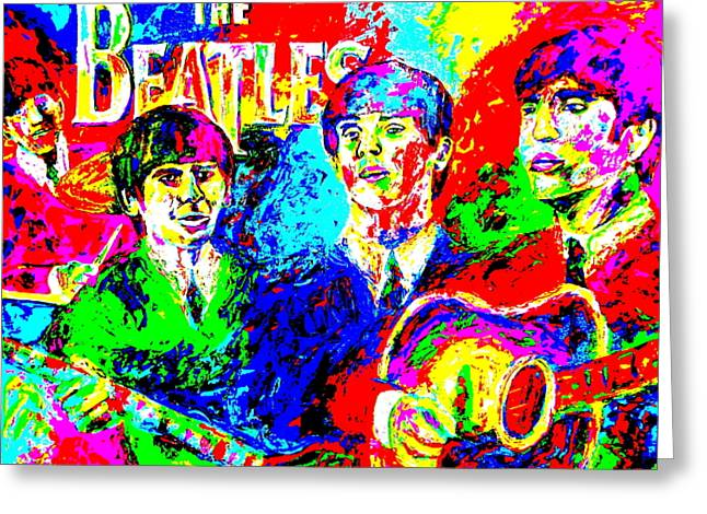 The Beatles Greeting Card by Mike OBrien