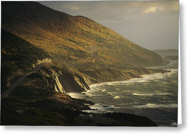 Cabot Greeting Cards - The Cabot Trail Winds Its Way Greeting Card by Raymond Gehman