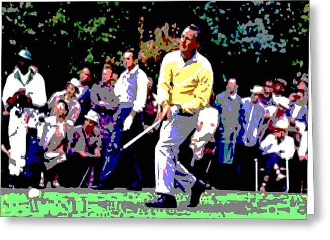 Arnold Palmer Greeting Cards - The Charge of 62 Greeting Card by Spencer McKain