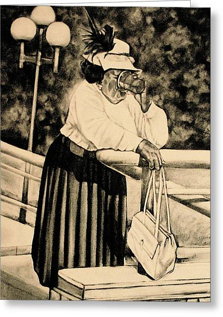 Blessings Drawings Greeting Cards - The Church Lady Greeting Card by Curtis James