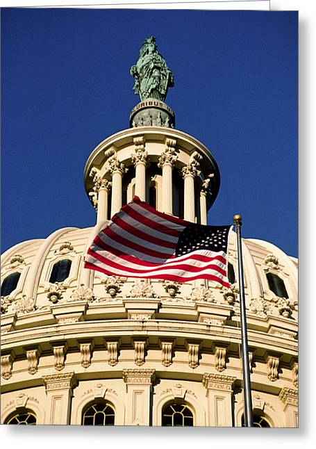 Art Of Building Greeting Cards - The Dome Of The United States Capitol Greeting Card by Rex A. Stucky