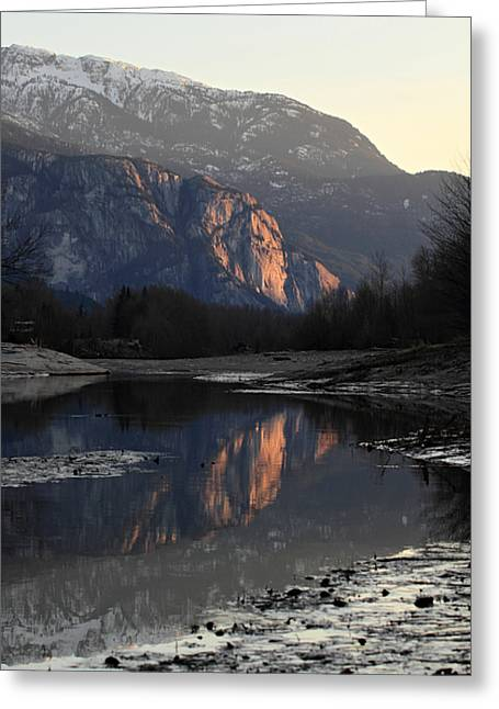 Monolith Greeting Cards - The Dominant Squamish Chief at sunset Greeting Card by Pierre Leclerc Photography