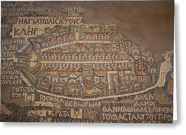 Jordan Photographs Greeting Cards - The Earliest Known Map Of The City Greeting Card by Taylor S. Kennedy