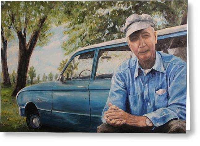Station Wagon Paintings Greeting Cards - The Falcon Greeting Card by Daniel W Green