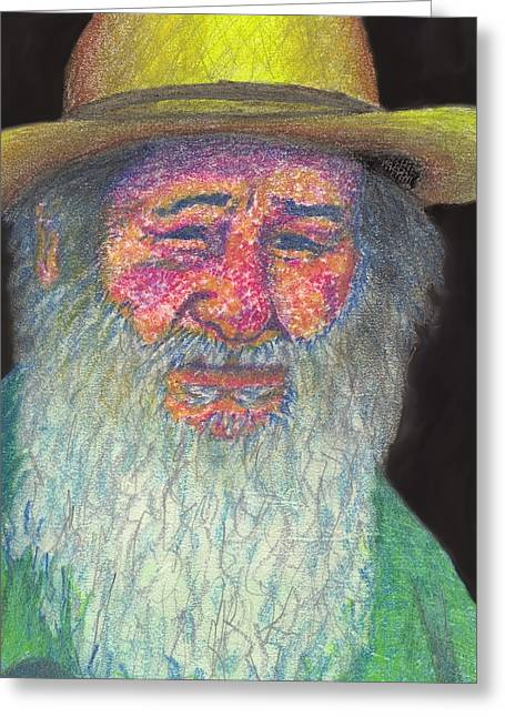 Sun Hat Pastels Greeting Cards - The Farmer Greeting Card by Jean Haynes
