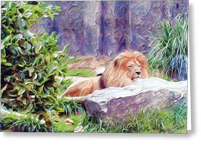 The King At Rest Greeting Card by Methune Hively
