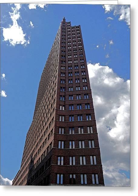 Attraktion Greeting Cards - The Kollhoff-Tower ...  Greeting Card by Juergen Weiss