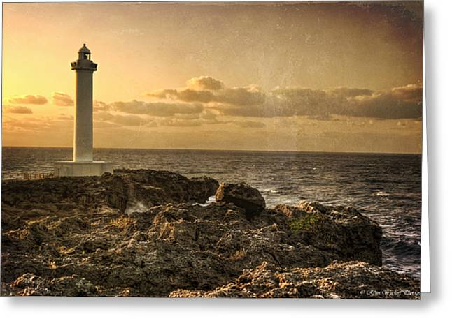 The Lighthouse Greeting Card by Ryan Wyckoff
