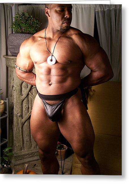 Georgia Bodybuilding Greeting Cards - The Male Model Greeting Card by Jake Hartz