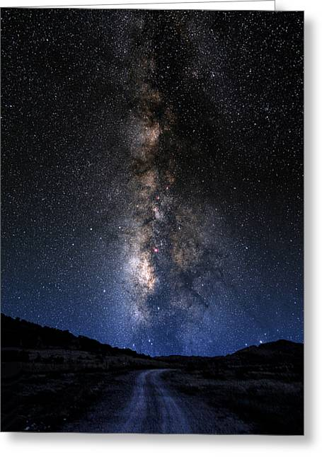 Constellations Greeting Cards - The Milky Road Greeting Card by Larry Landolfi