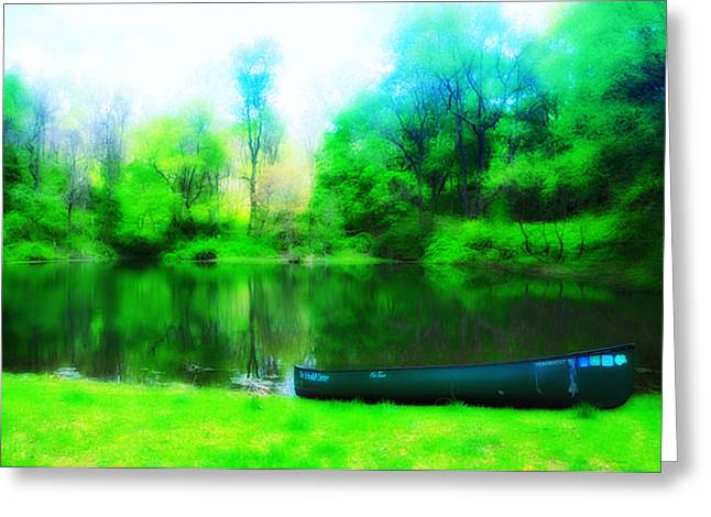Nature Center Pond Greeting Cards - The Old Fishin Hole Greeting Card by Bill Cannon