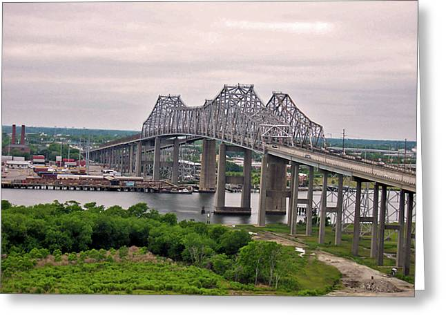 Donnie Smith Greeting Cards - The Pearman-Grace Bridges Greeting Card by Donnie Smith