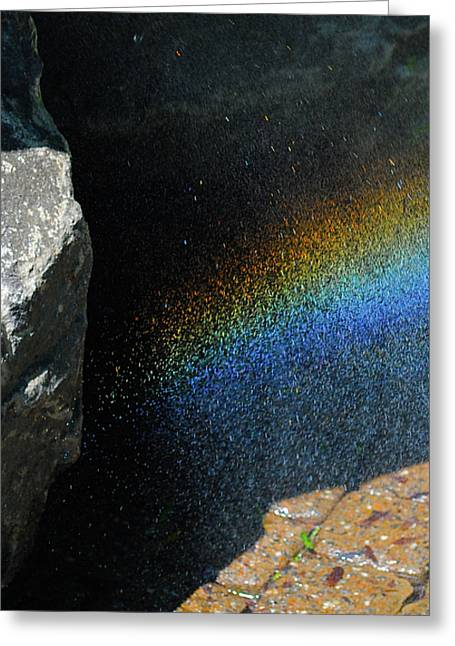 Rainbow Sculptures Greeting Cards - The Rainbow Fountain 4-5  Greeting Card by Chris  Riley