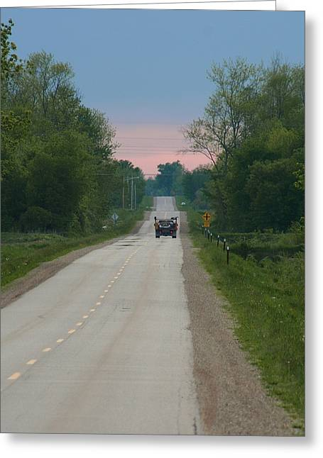 Long Road Greeting Cards - The Road Goes On Forever Greeting Card by Odd Jeppesen