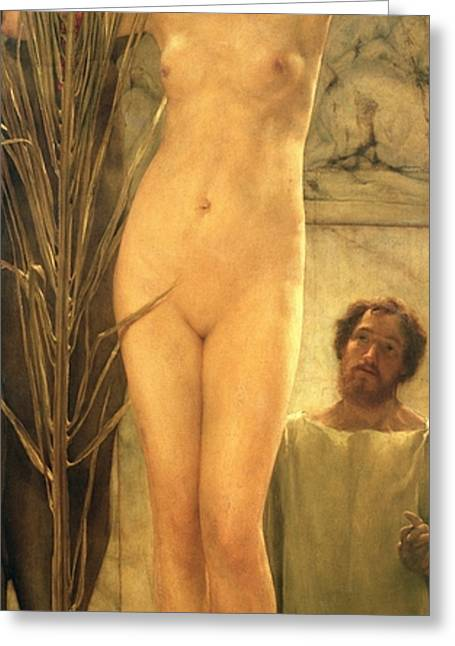 Figure Based Greeting Cards - The Sculptors Model Greeting Card by Sir Lawrence Alma-Tadema