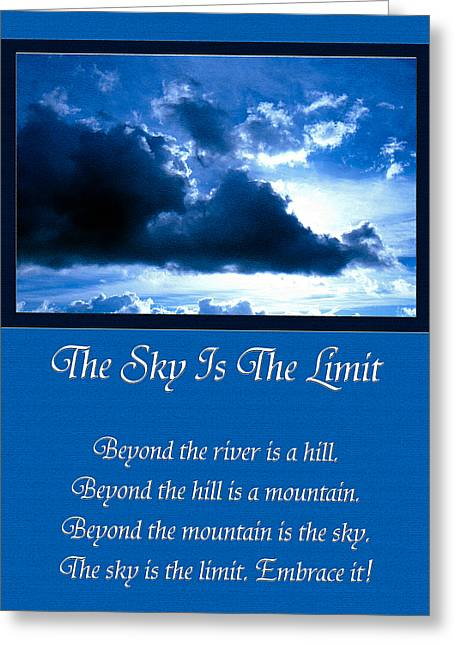Embrace Greeting Cards - The Sky Is The Limit Greeting Card by Andee Design