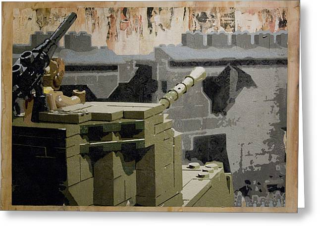 Recently Sold -  - Lego Greeting Cards - The Storming of Berlin Greeting Card by Josh Bernstein