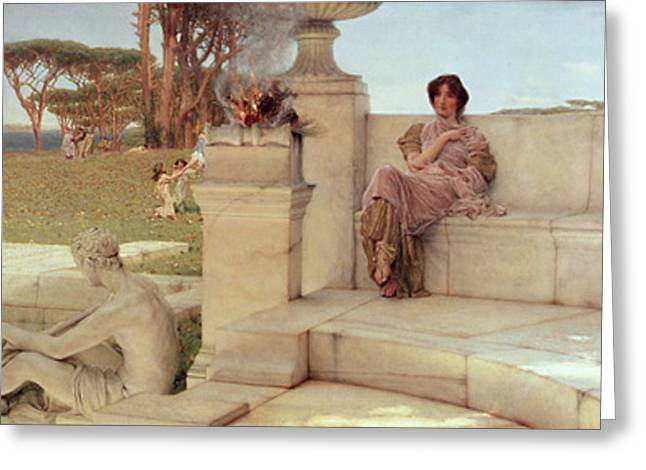 Sacrifice Greeting Cards - The Voice of Spring Greeting Card by Sir Lawrence Alma-Tadema