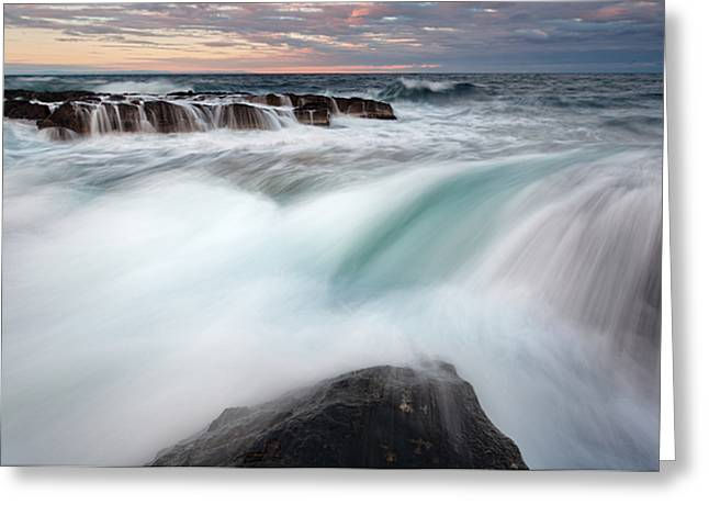 The Wave Greeting Card by Evgeni Dinev