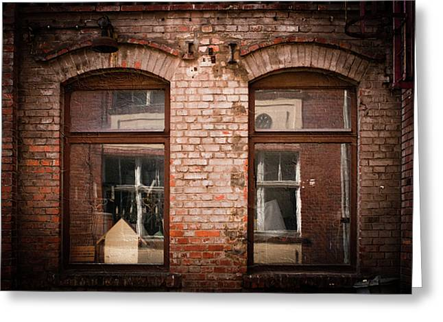 Backstreets Greeting Cards - Through the window Greeting Card by Mandy Tabatt