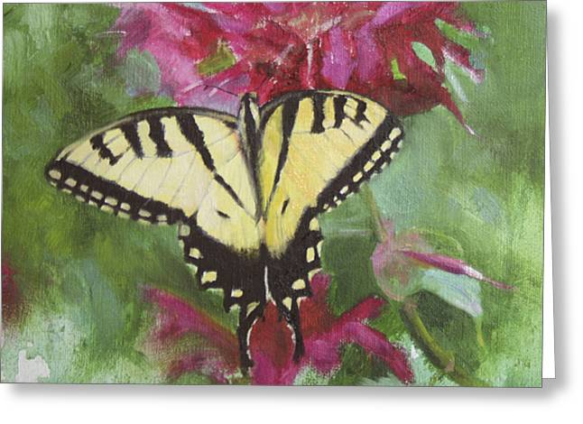 Still Life Greeting Cards - Tiger Swallowtail Greeting Card by Anna Bain