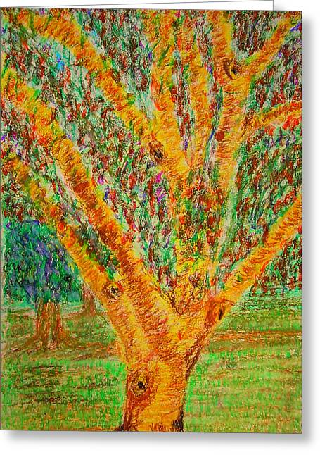 Fineart Pastels Greeting Cards - Tree Greeting Card by Errol DSouza