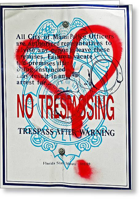 Installation Art Greeting Cards - Trespassing Greeting Card by Anahi DeCanio
