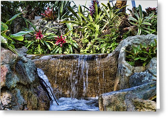 Tropical City Prints Greeting Cards - Tropical Waterfall Greeting Card by Ricky Barnard