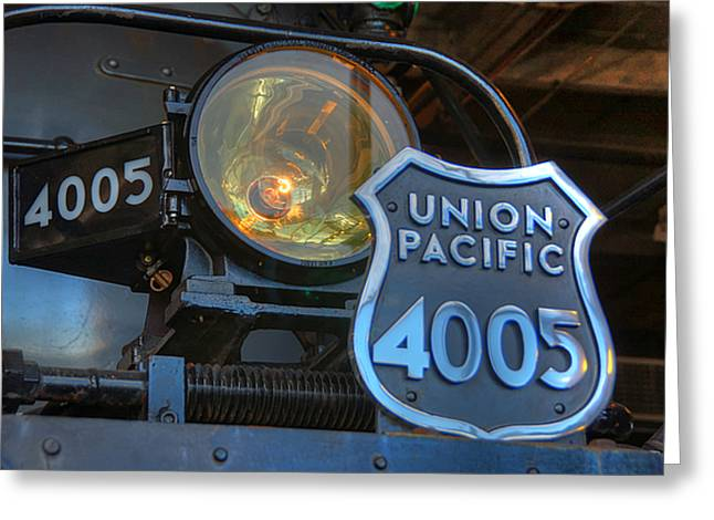 Union Pacific Greeting Cards - Union Pacific Big Boy Headlight Greeting Card by Ken Smith
