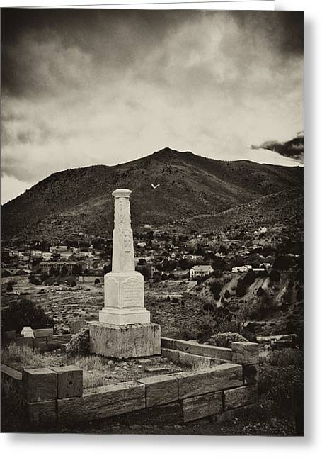 Gravesite Greeting Cards - V is for Virginia City Greeting Card by Kurt Golgart