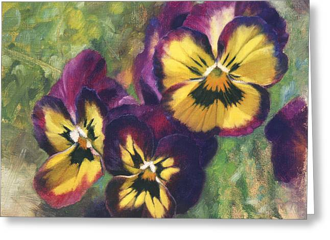 Flower Still Life Greeting Cards - Velvet Clowns I Greeting Card by Anna Bain