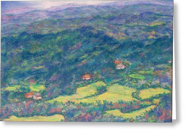 Mountain Valley Pastels Greeting Cards - View From Carolina Enchantment Greeting Card by Sandy Hemmer