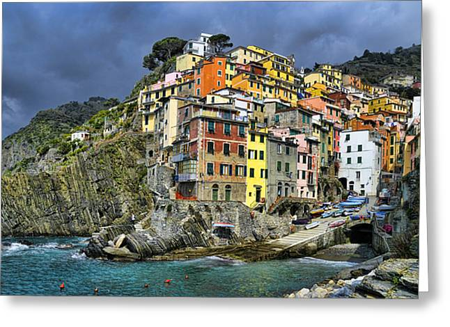 Recently Sold -  - Residential Structure Greeting Cards - Village of Riomaggiore 2 - Cinque Terre - Italy Greeting Card by JH Photo Service